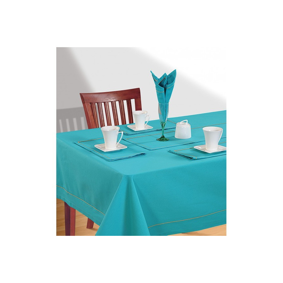 Ocean Blue Rectangle Table Cloth- Aqua Blue