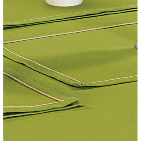Fresh Plain Rectangular Table Linen- Grass Green
