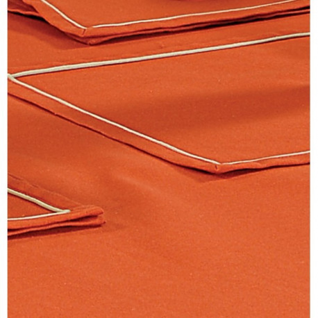 Saffron Plain Rectangular Table Linen- Rusty Orange