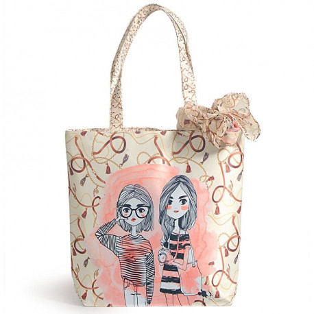 Fashion bag with neck roll scarf - FBS-03