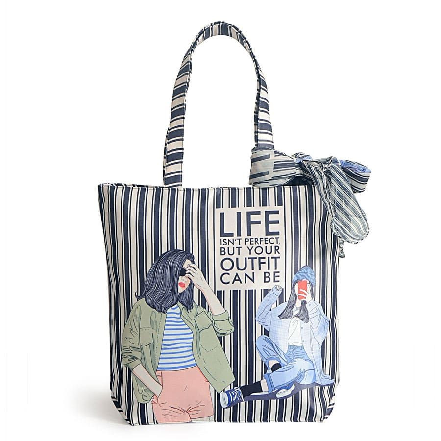 Fashion bag with neck roll scarf - FBS-04