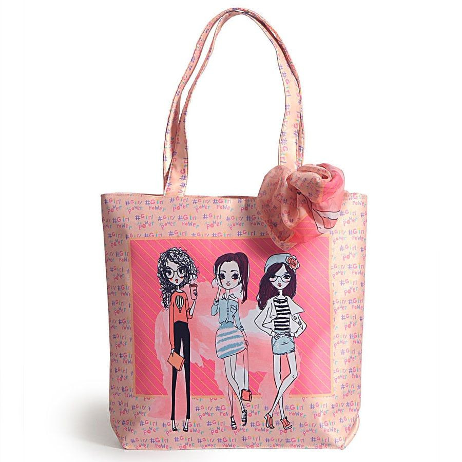 Fashion bag with neck roll scarf - FBS-06