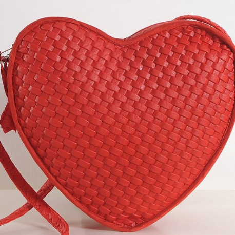 Lush Red Heart Bag Satchel