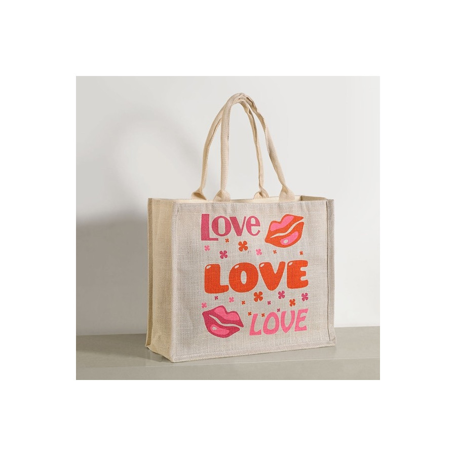 840a6ce3ef6 Buy Pure Love Jute Water Proof Shopping Bags | Bags Online- Swayam India