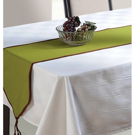 Green Cotton Table Runner- Green