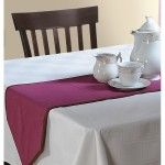 Pink Cotton Table Runner-Wine