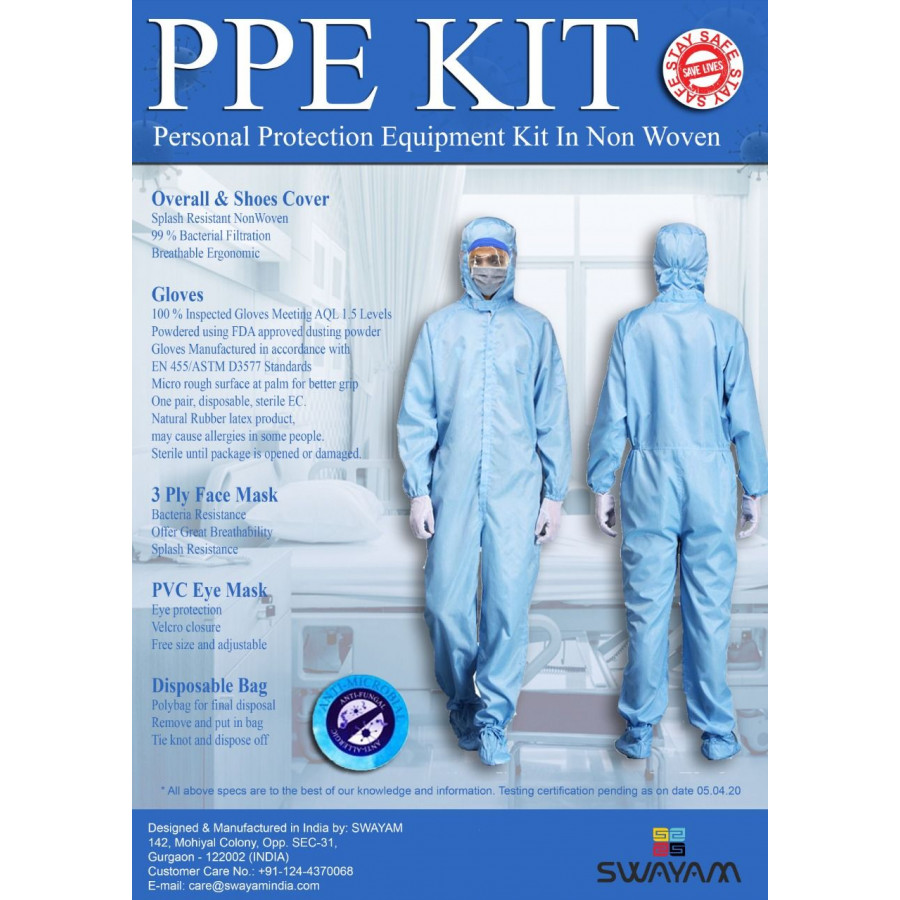 Personal Protection Equipment Kit in Non Women