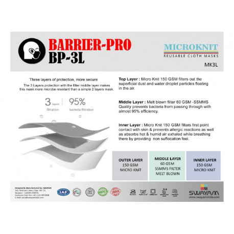 Barrier Pro BP 3L Mask