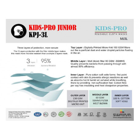 Kids Pro Junior KPJ 3L Mask