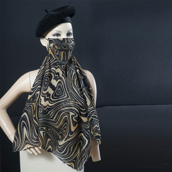 Colorful Printed Scarf Mask