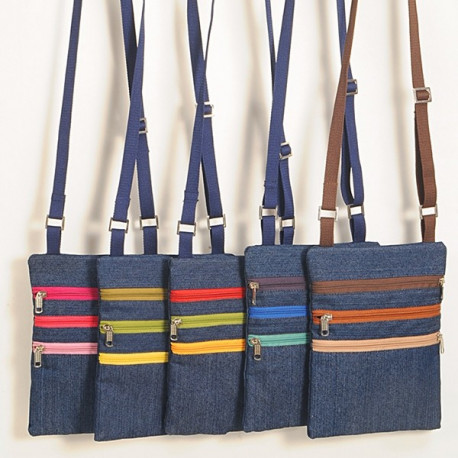 Color Zip Denim Satchel Bags – FB30