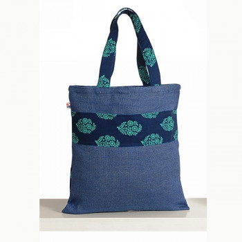 Blue Patches Colored Jute Bags – CJB-2008