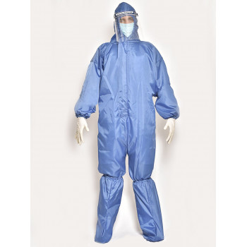60 GSM Personal Protective Equipment Kit-Taffeta with Seam Tape for Housekeeping & Courier