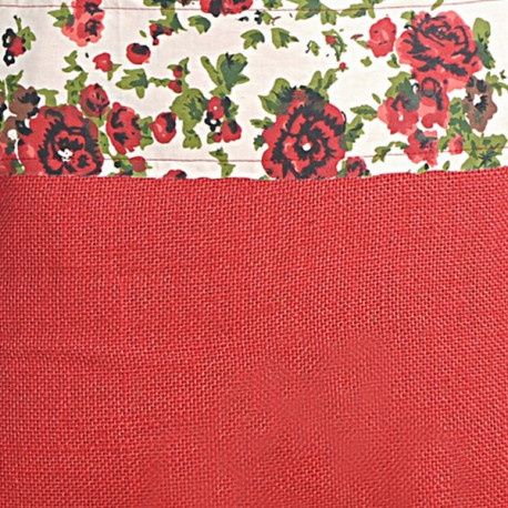 Red Roses Colored Jute Bags- CJB-6904