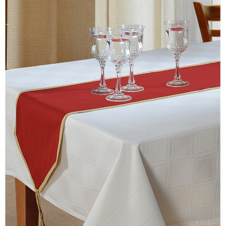 Maroon Cotton Table Runner- Maroon