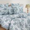 Flowery Majesty Sparkle Fitted Bed Sheet- 1218