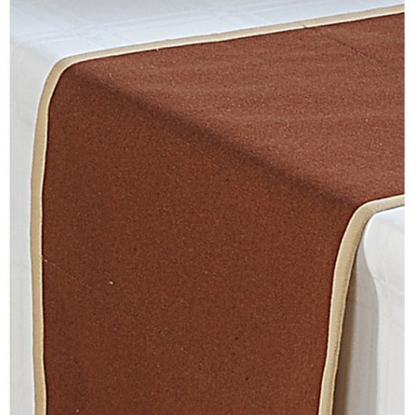 Brown Cotton Table Runner- Brown