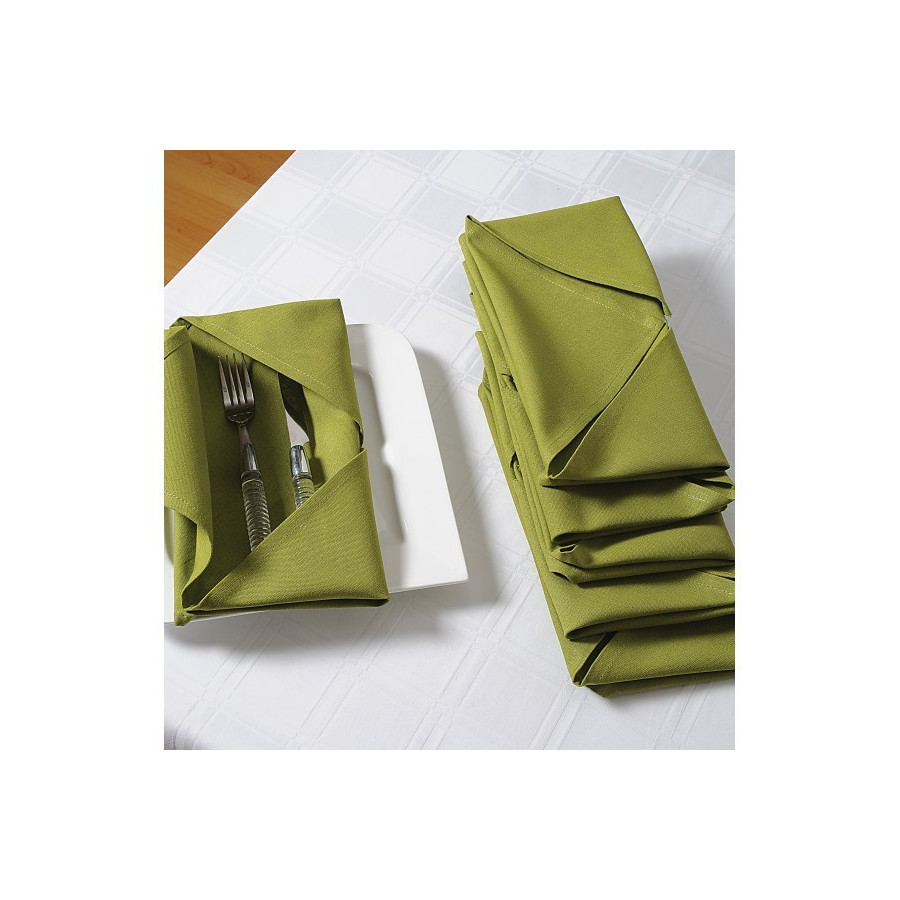 Green Dinner Napkins- Green