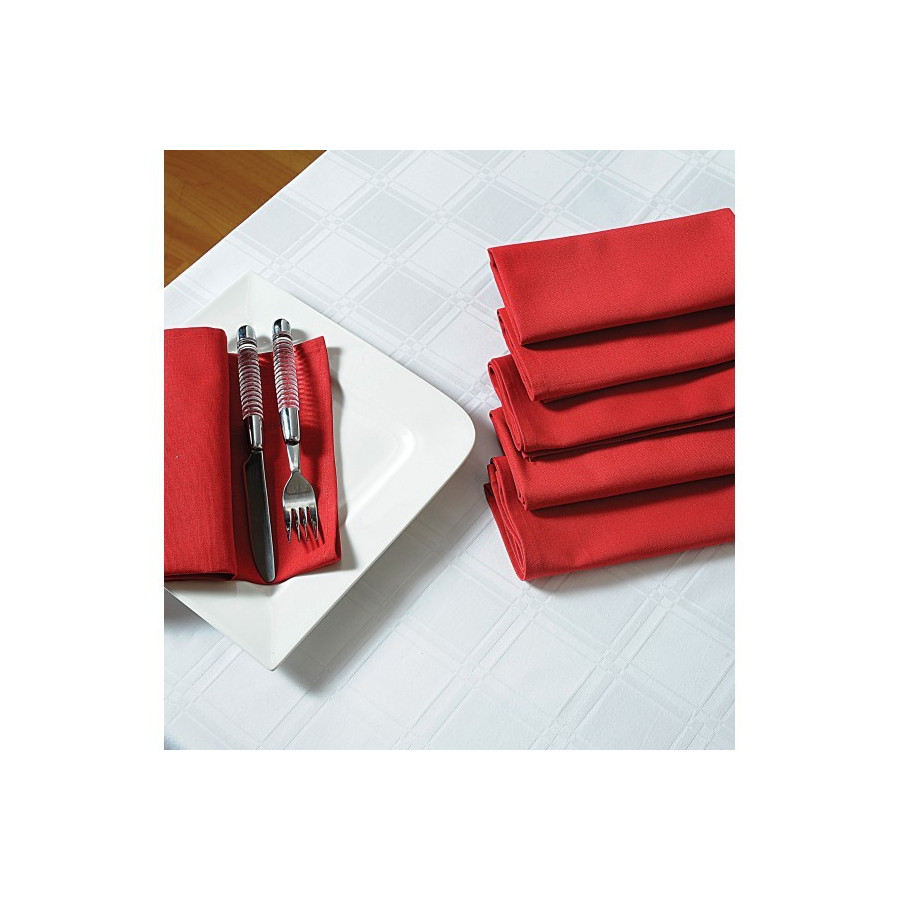 Maroon Dinner Napkins Set- Maroon