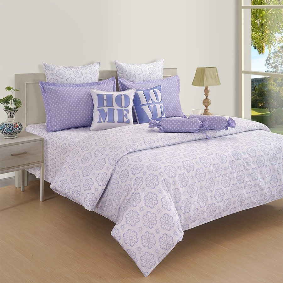 Lilac Tint Double Bedsheet-16015