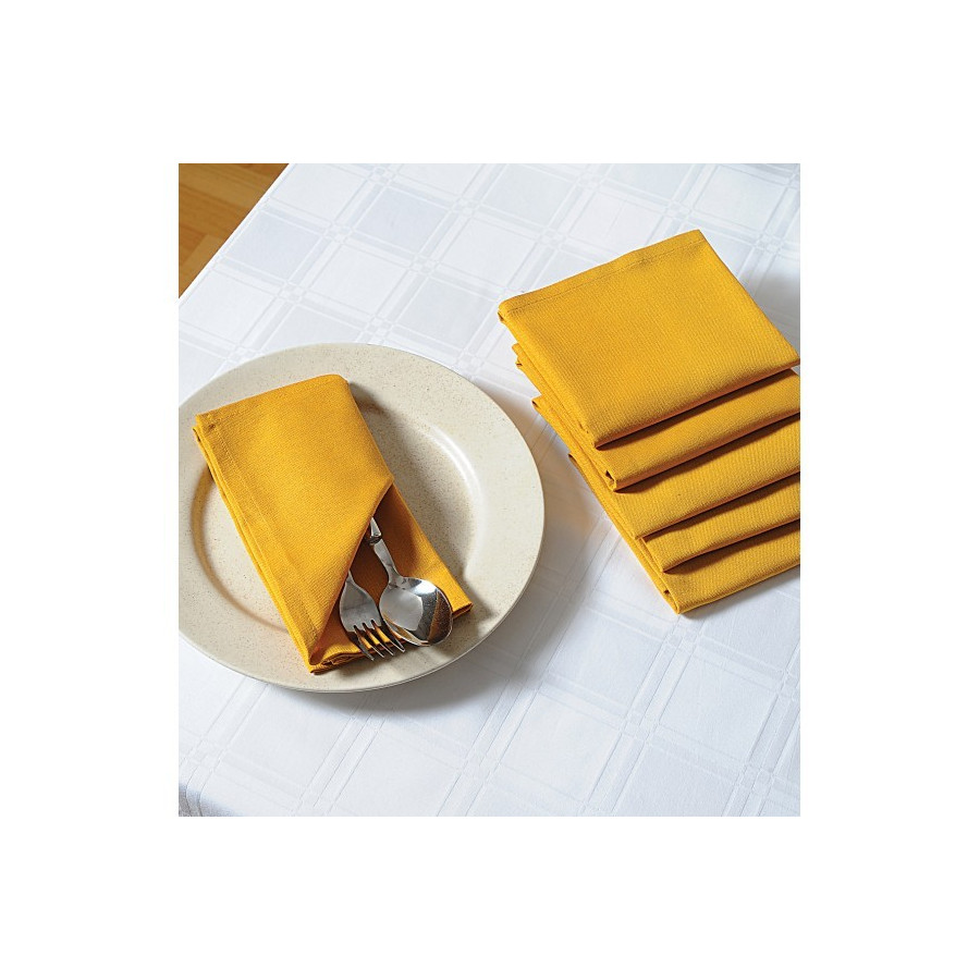 Yellow Dinner Napkins Set- Yellow