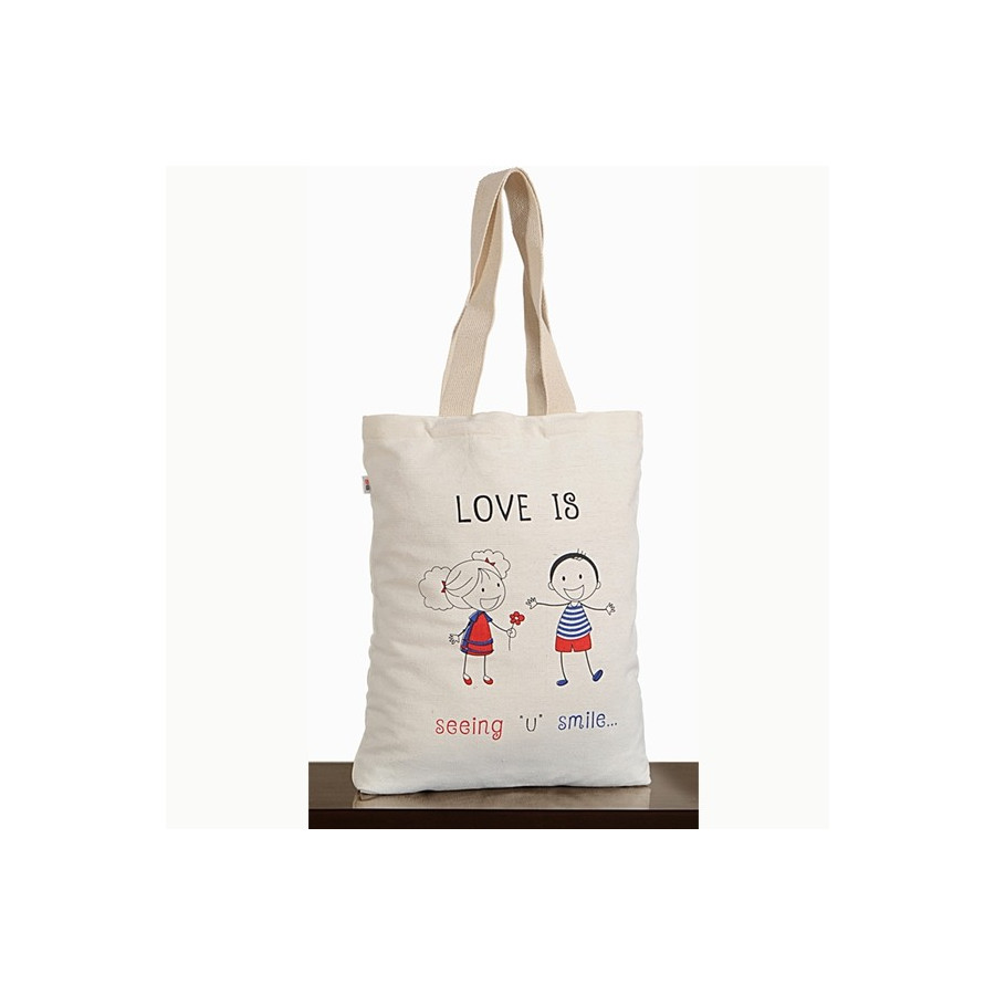 Love is Smile Canvas Graffiti Bag – Friendship Bag – 654
