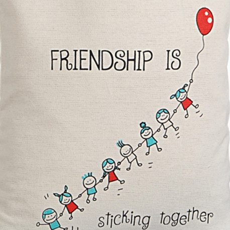 Light Beige Canvas Graffiti Bag - Friendship Bag – 656