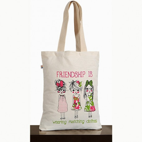 Best Friends Canvas Graffiti Bag- Friendship-Bag- 651
