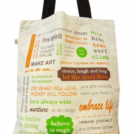 Colorful Words Canvas Graffiti Bag- GCB01- 513