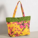 Pink Flowery Mosaic Cotton Shopping Bags- 2410