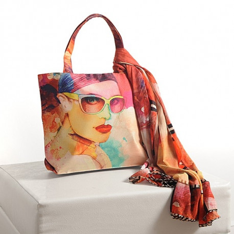 Colorful Girl Scarf Bags- SCF-911