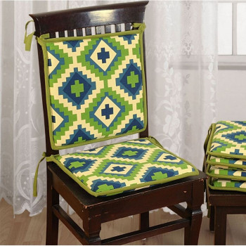 Coral Stripes Chair Pads- CPD01- 1501