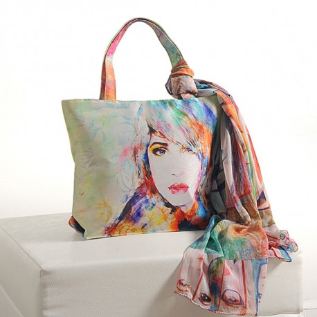 White Beauty Scarf Bags- SCF-912