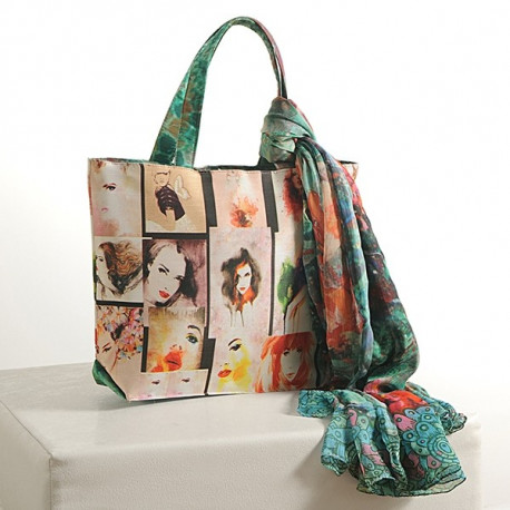 Picture Collage Scarf Bags- SCF-913