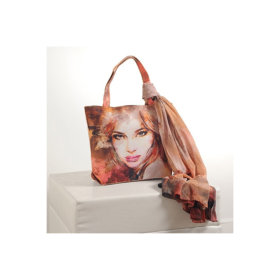 Brown Girls Scarf Bags- SCF- 916