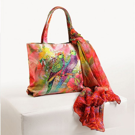 Colorful Parrots Scarf Bags- SCF-902