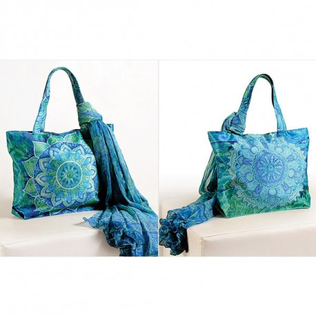 Blue Green Scarf Bags- SCF- 906