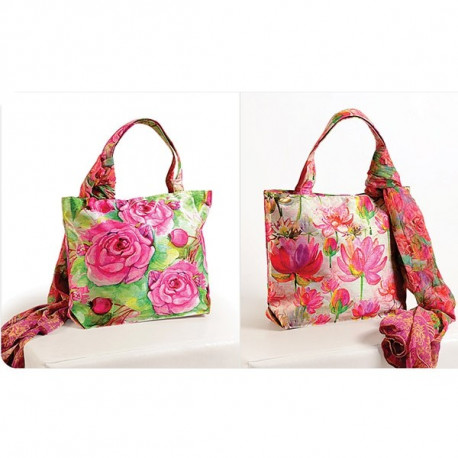 Lotus Rose Scarf Bags- SCF-907