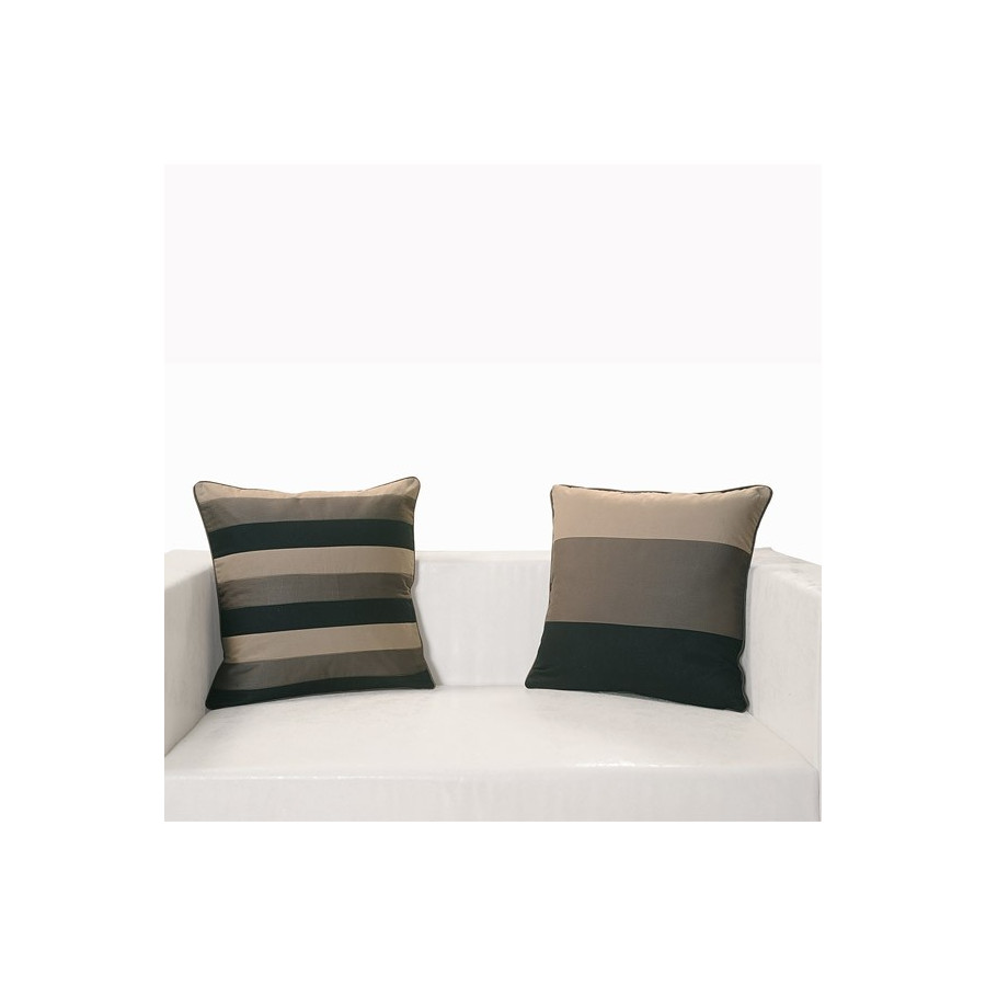 Black Grey Patchwork Cushion Covers- Appl-14004