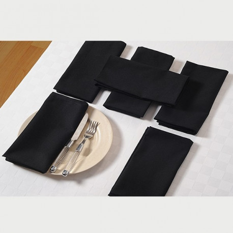 Coal Black Dinner Napkin Sets – Black