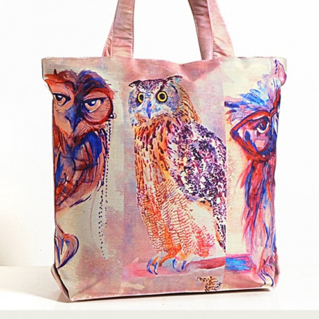 Owl Painting Animal Theme Bag- Owl-3
