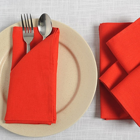 Casual Red Dinner Napkin Sets – Red