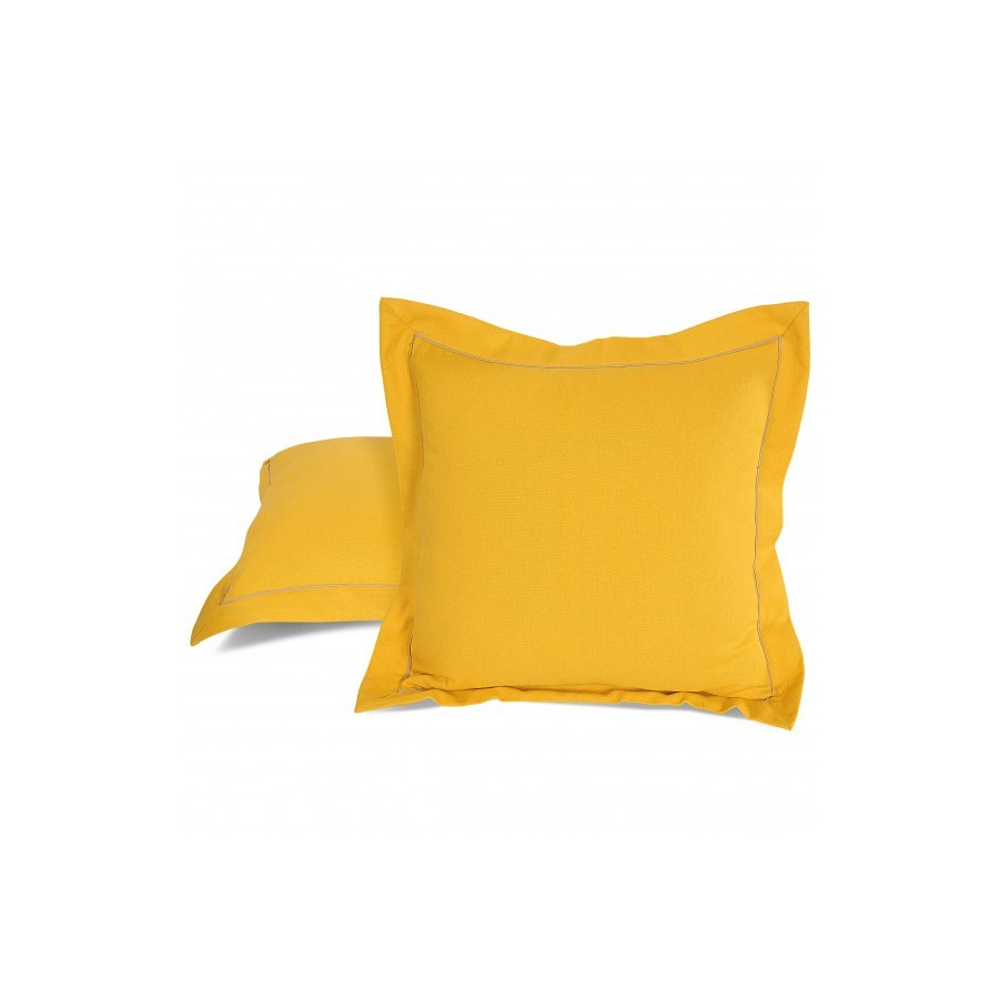 Yellow Cushion Cover-Cushion Sld Yellow