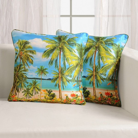 Beach Digitally Printed Cushion Covers- DCC- 1104