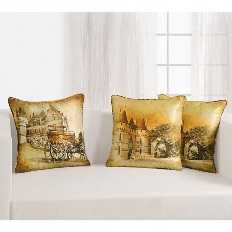 Castle Digital Printed Cushion Cover- DCC- 1160
