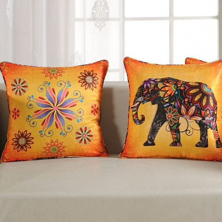 Elephant Digital Printed Cushion Cover- 1152