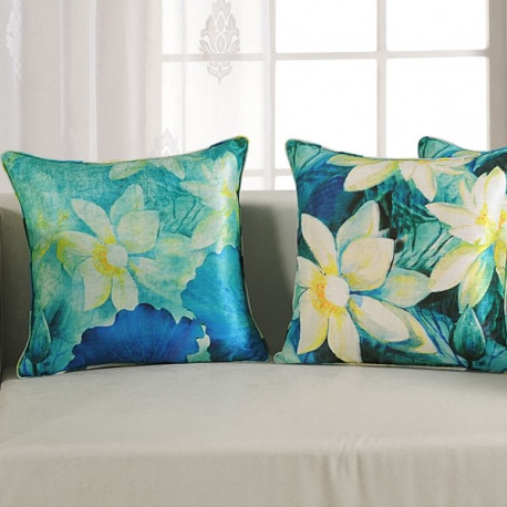Flower Digital Printed Cushion Cover- 1154