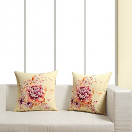 Awesome Blossom Digital Printed Cushion Covers - SCC-06