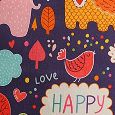 Happy love kids cushion covers- KCC- 166