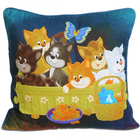 Kittens Kids Cushion Covers-KCC-101